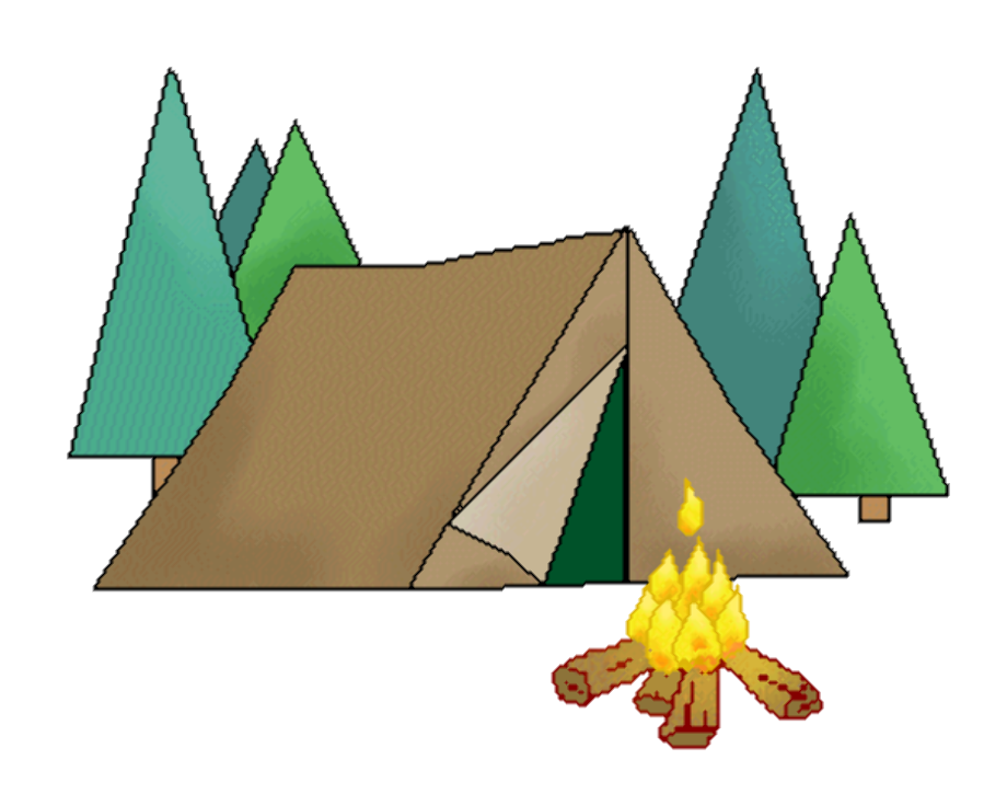 camping clipart background