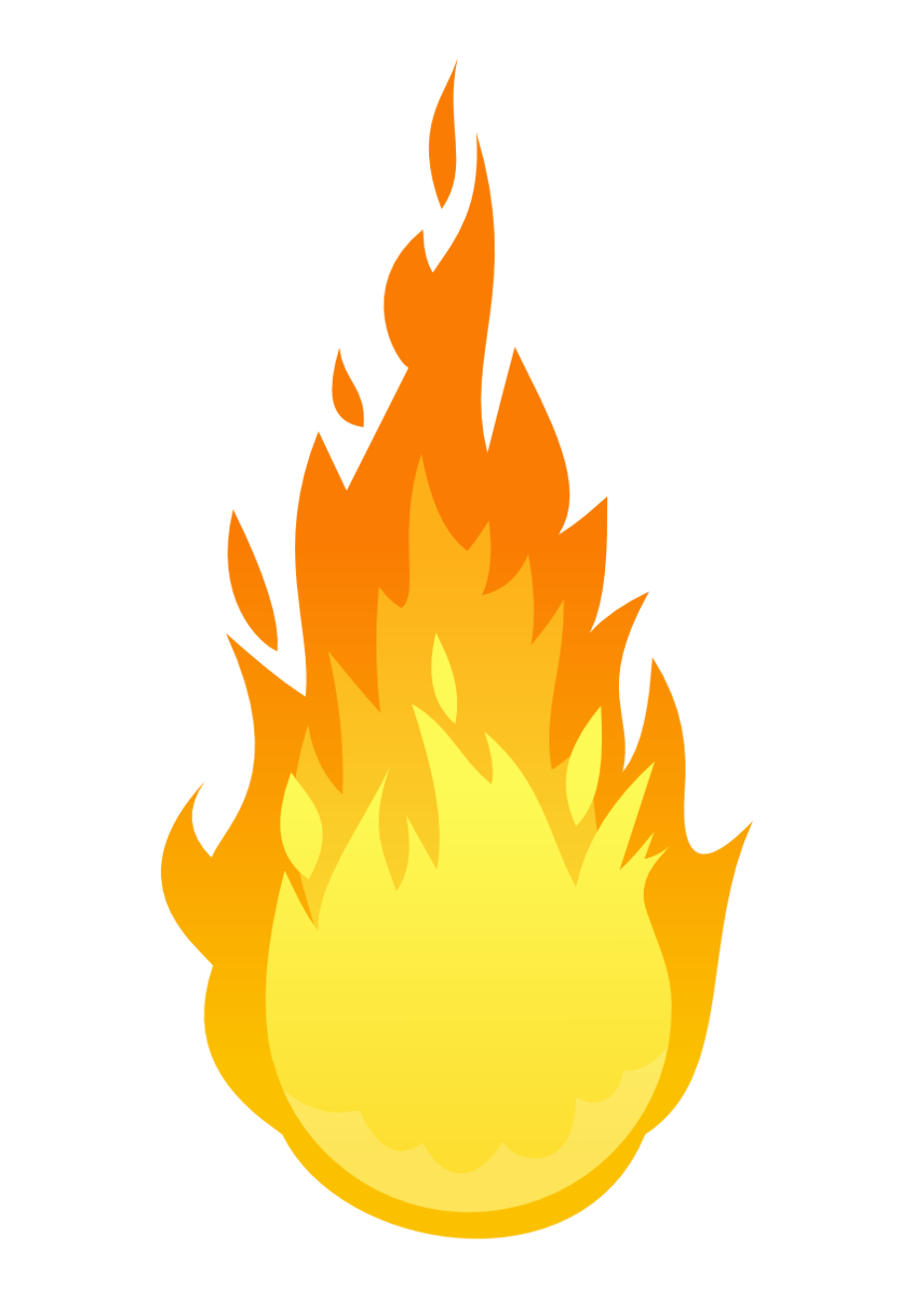 Transparent fire