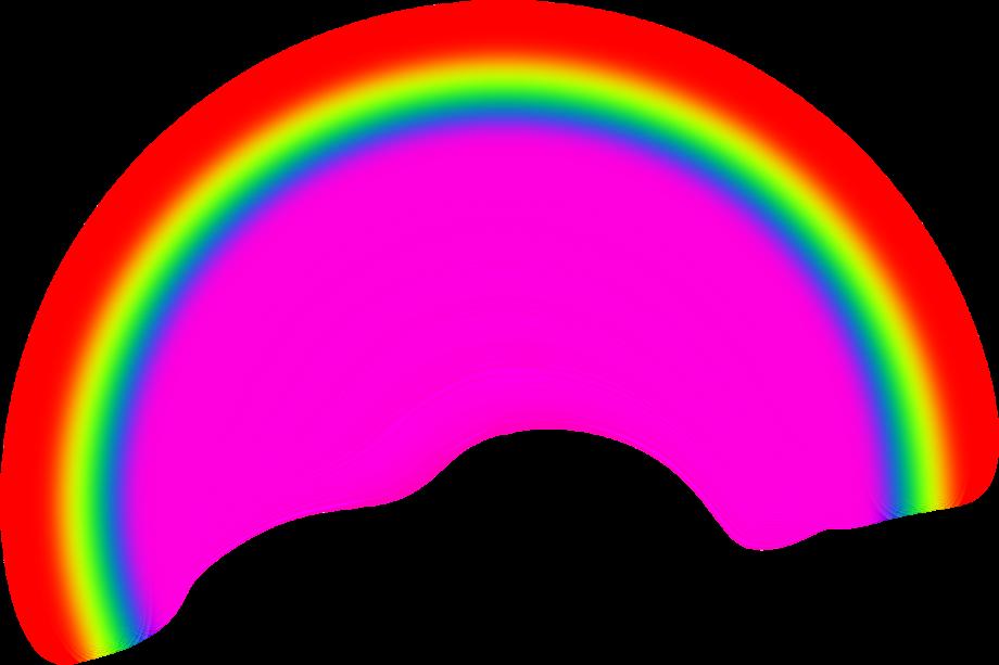 rainbow clipart realistic
