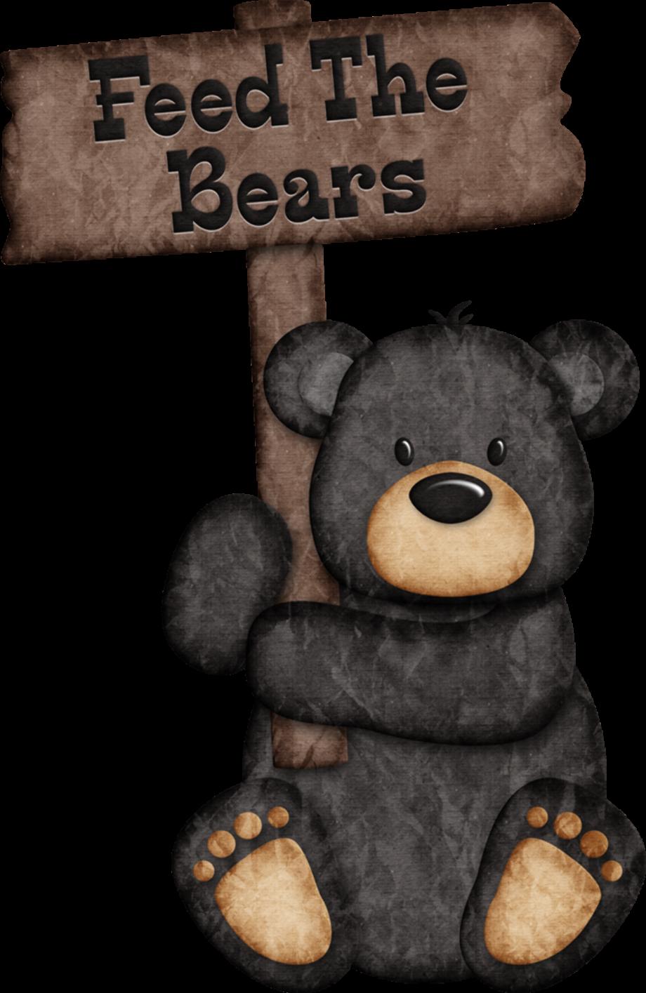 camping clipart bear