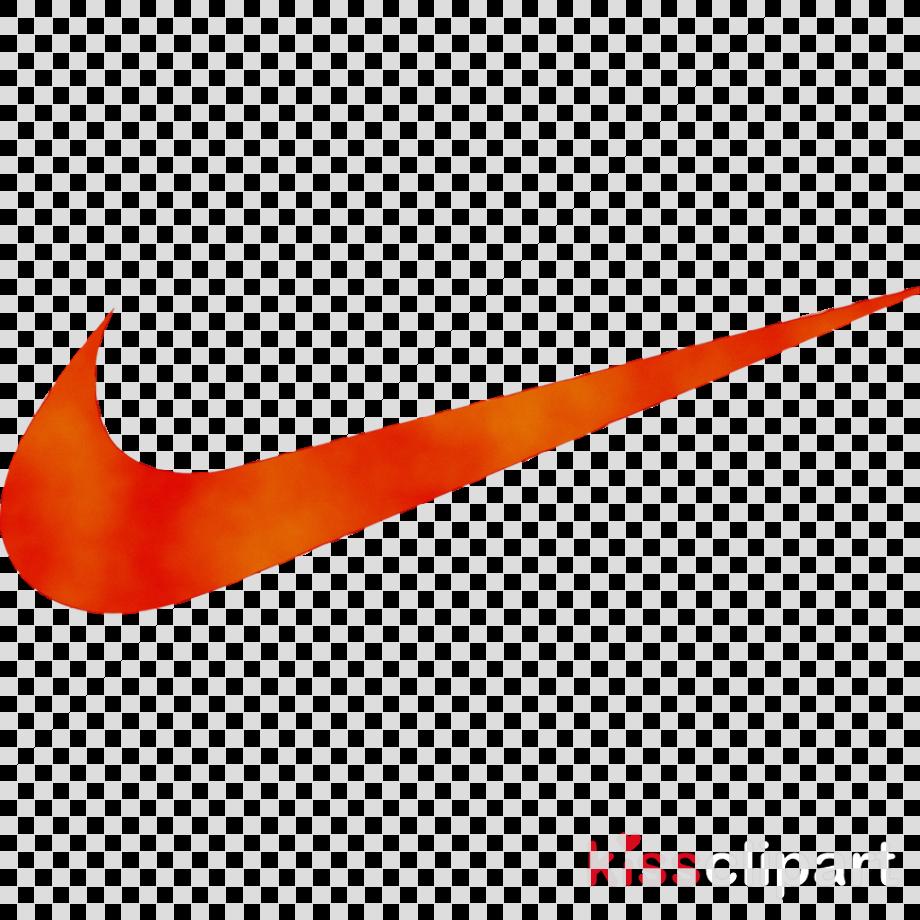 Nike swoosh logo orange