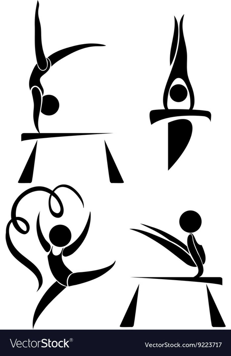 Olympic logo gymnastics