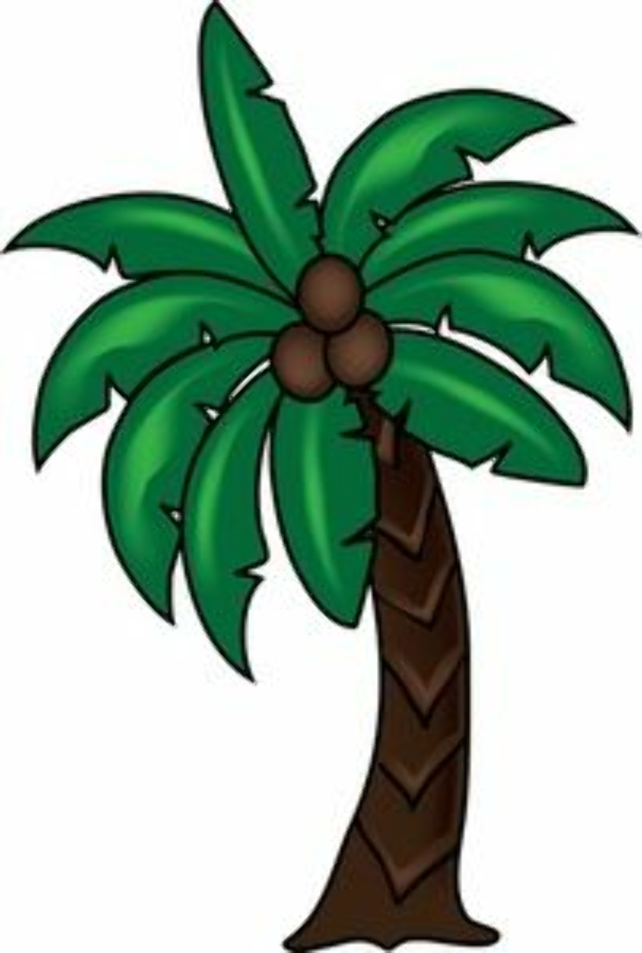 Download High Quality palm tree clipart coconut ... (920 x 1366 Pixel)