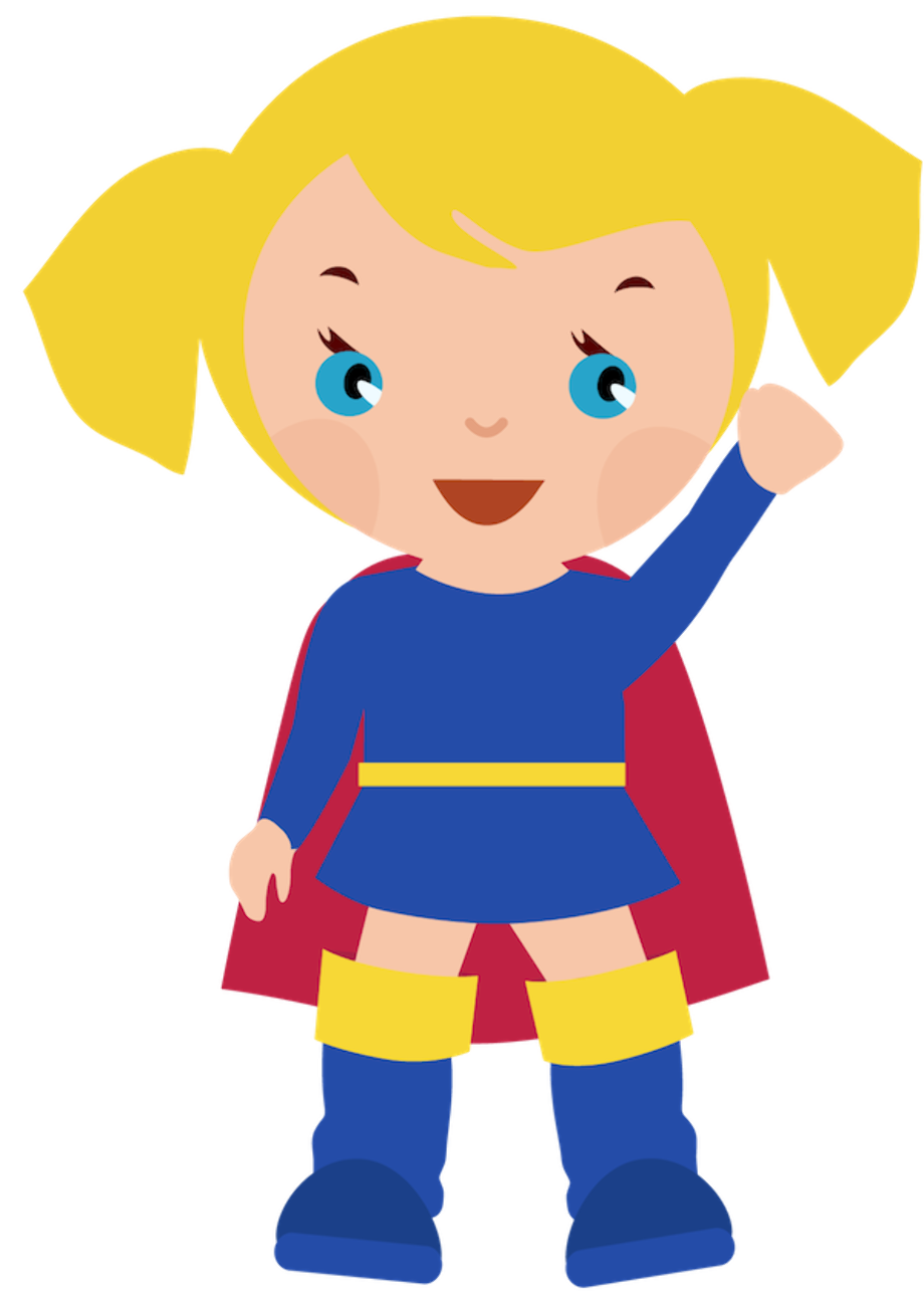 superhero clipart kid