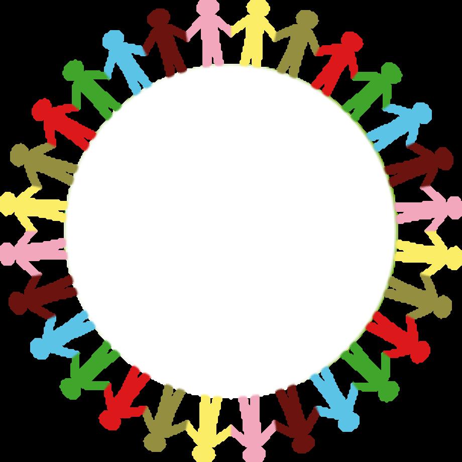People clipart logo circle