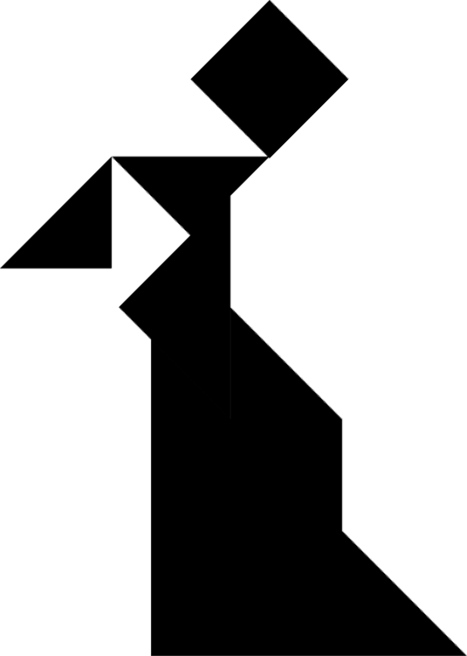 People clipart logo tangram
