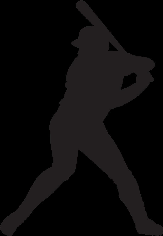 baseball clip art silhouette