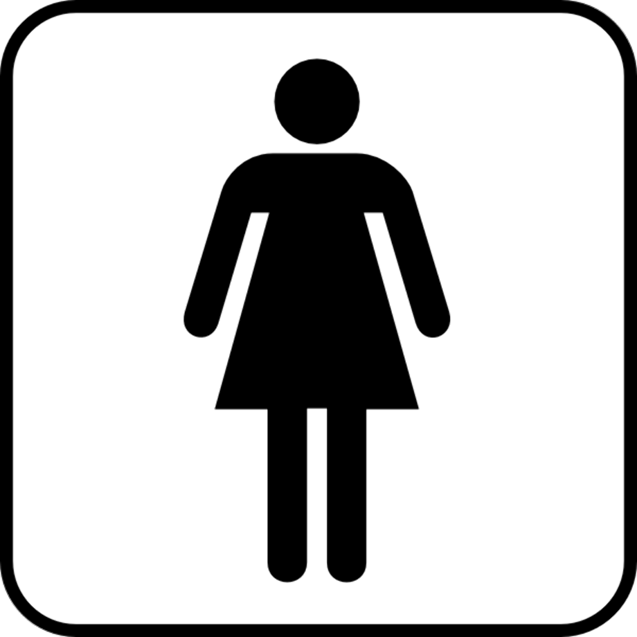 Person silhouette clipart washroom woman