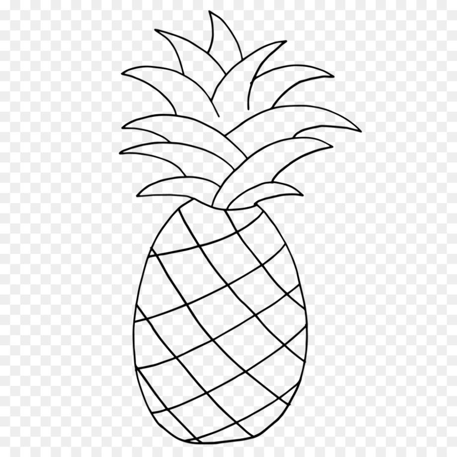 Download High Quality pineapple clip art stencil ...  Cute Pineapple Stencil