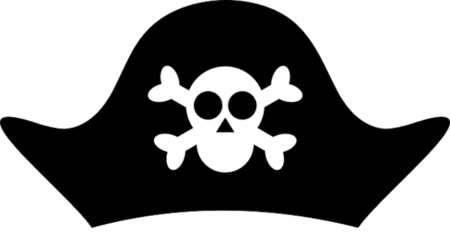 Pirate clipart transparent hat