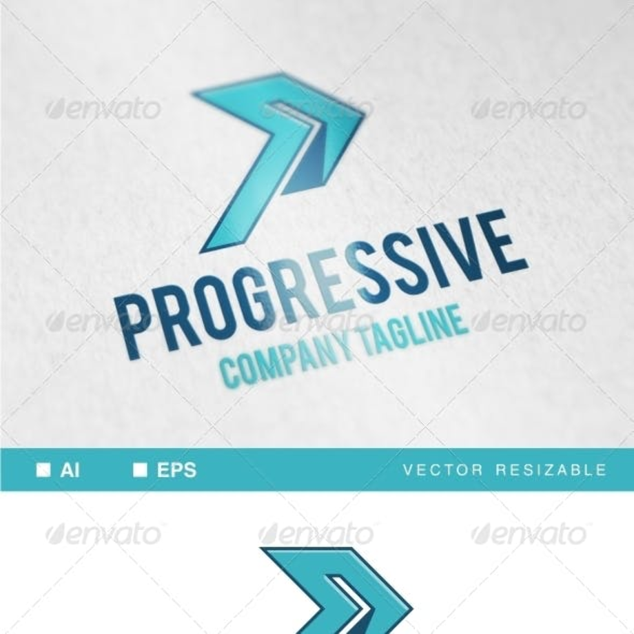 progressive logo template