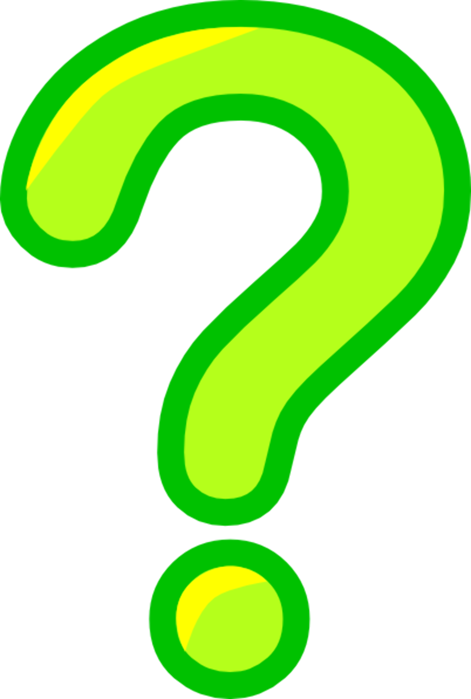 Question mark clipart green free