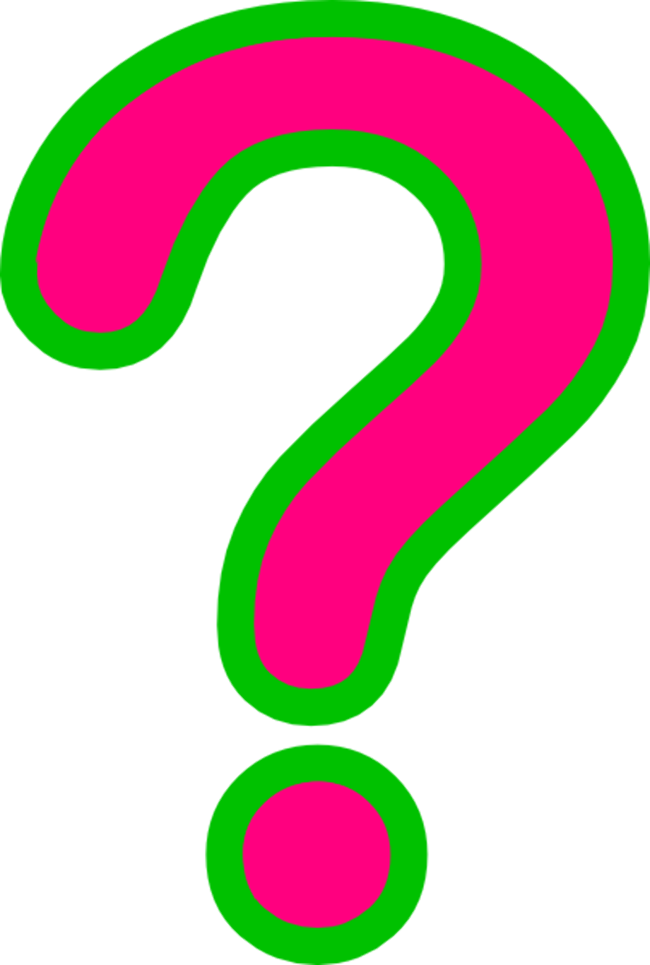 Question mark clipart green animated