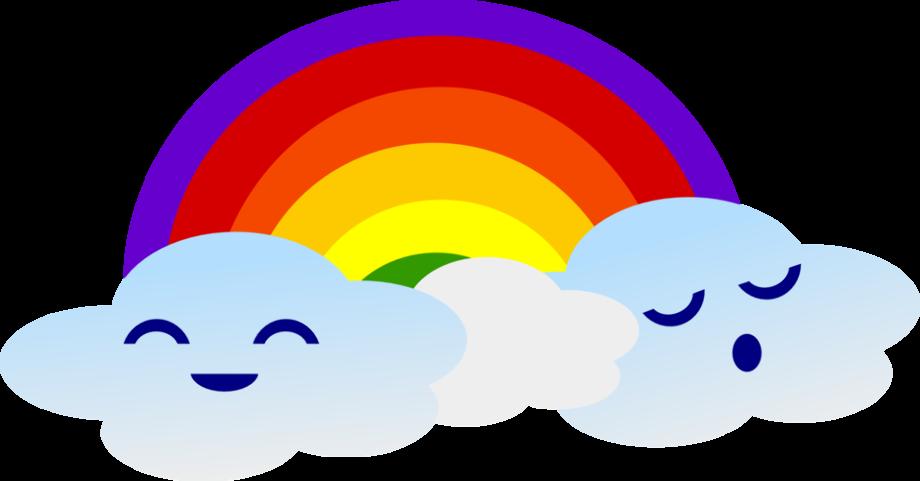 rainbow clipart kawaii