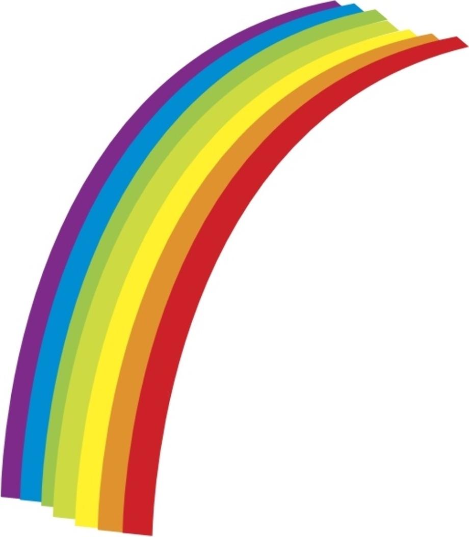 rainbow clipart vector