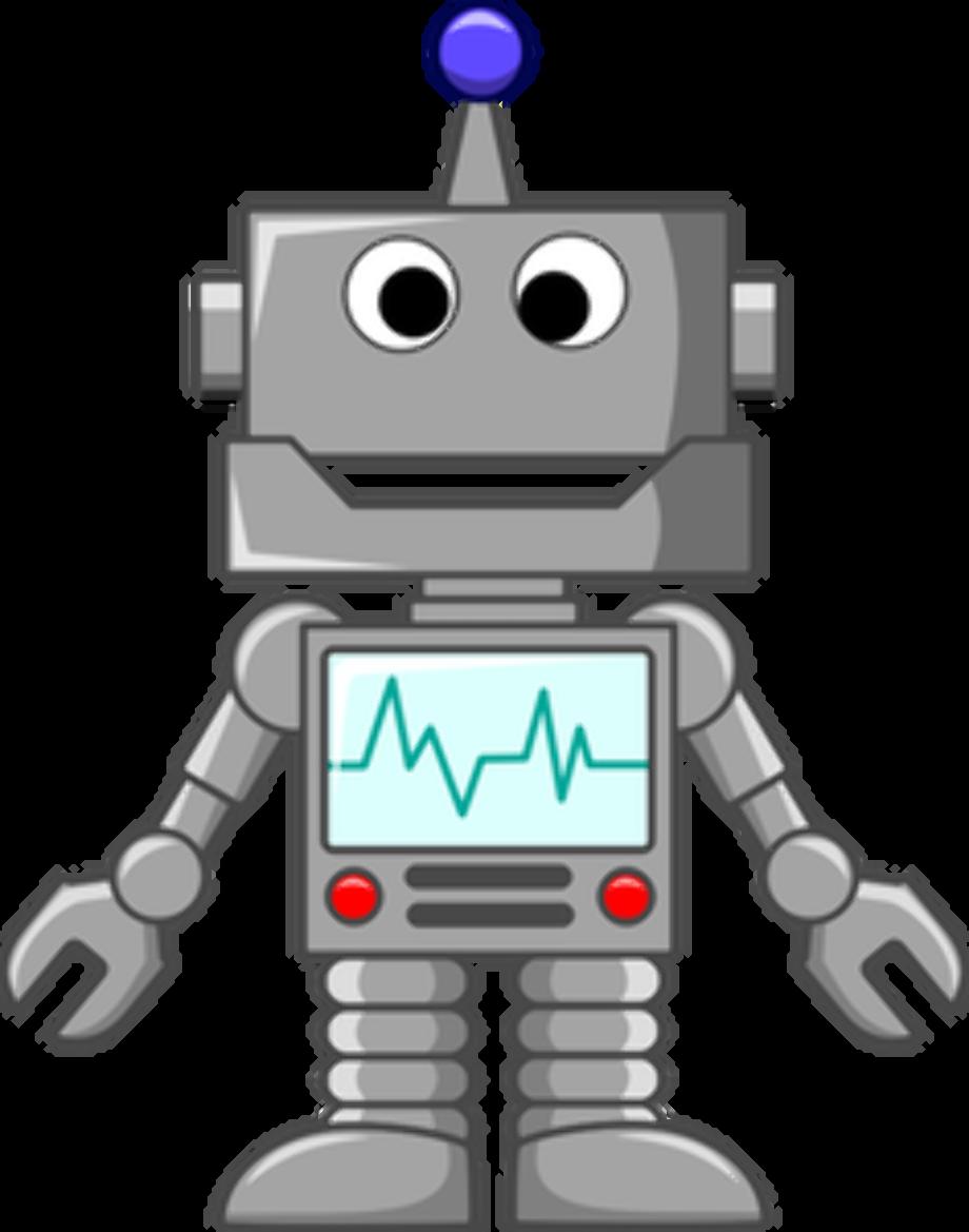 Robot clipart grey 168