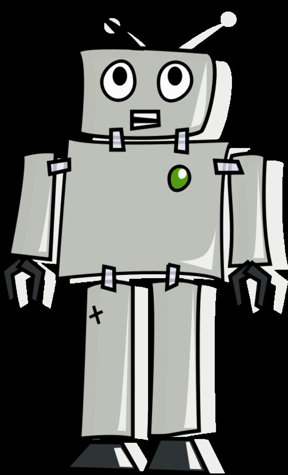 Robot clipart grey free