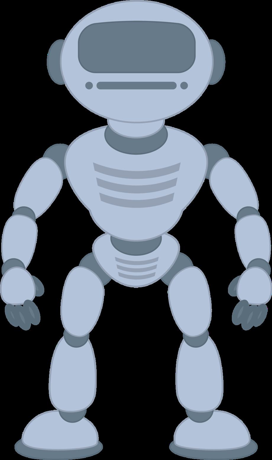 Robot clipart grey clip