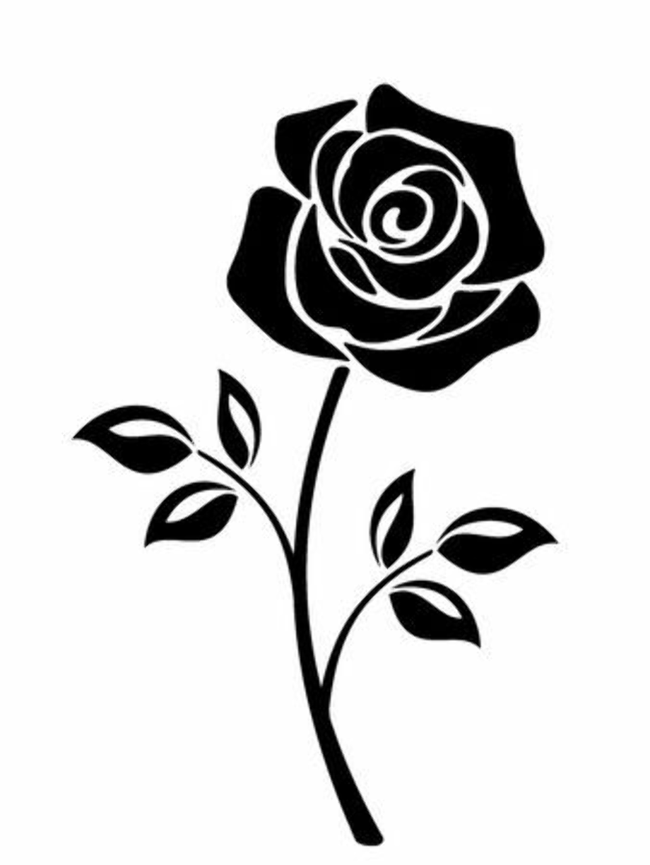 Download High Quality rose clipart black and white vector Transparent PNG Images - Art Prim clip ...