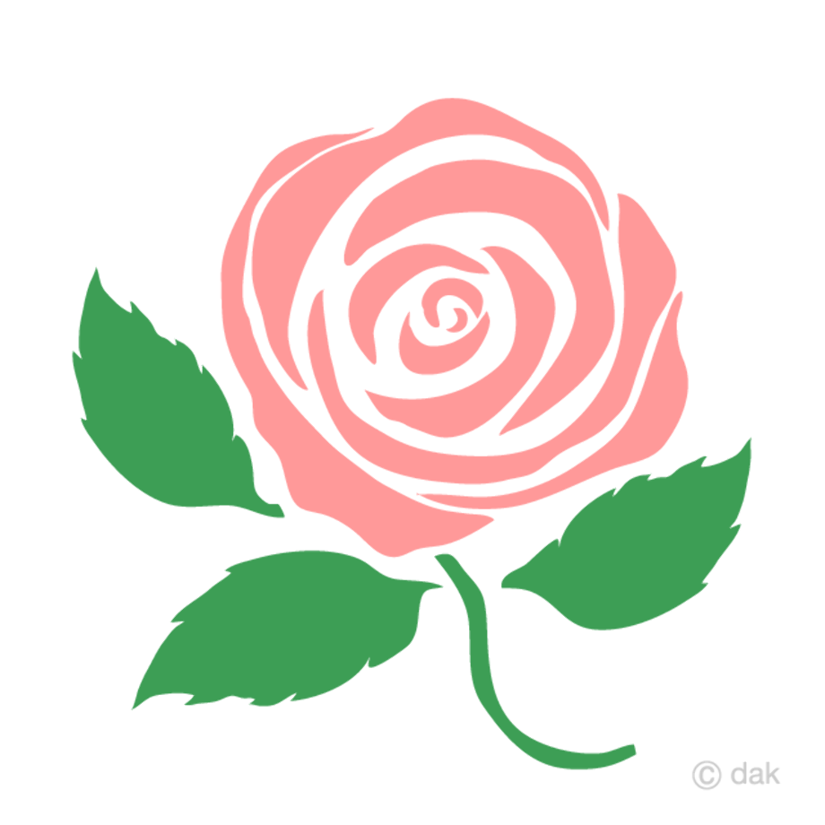 Roses clipart simple pink
