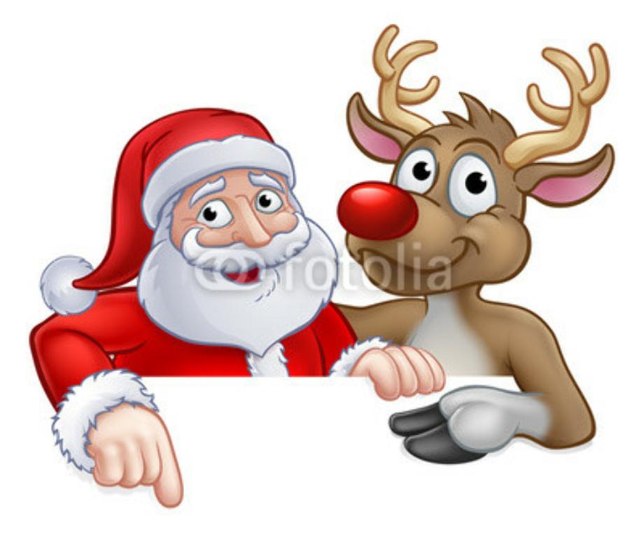 Peeking Santa Clipart