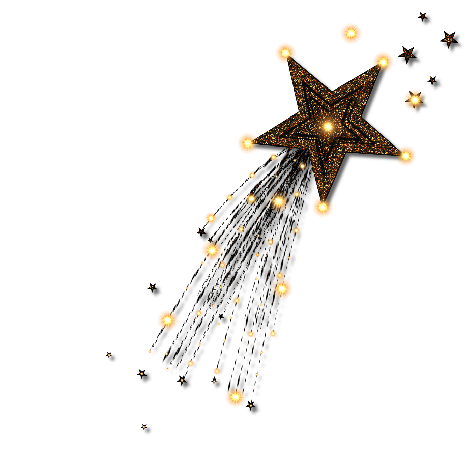 Shooting star clipart sparkle moon