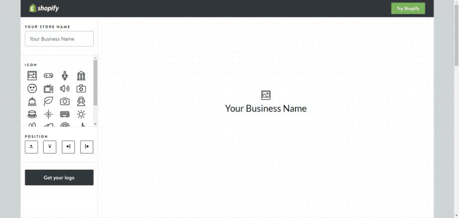 Shopify logo maker emblem