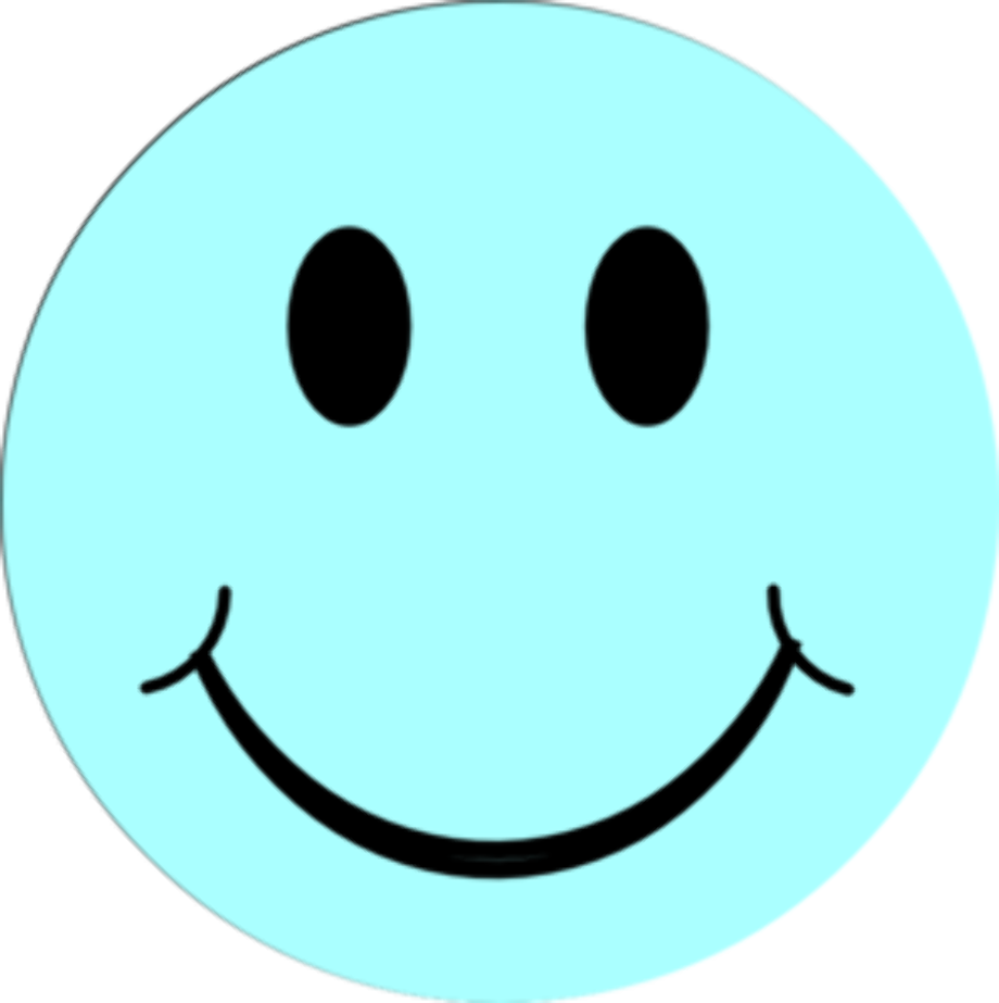 happy face clipart blue