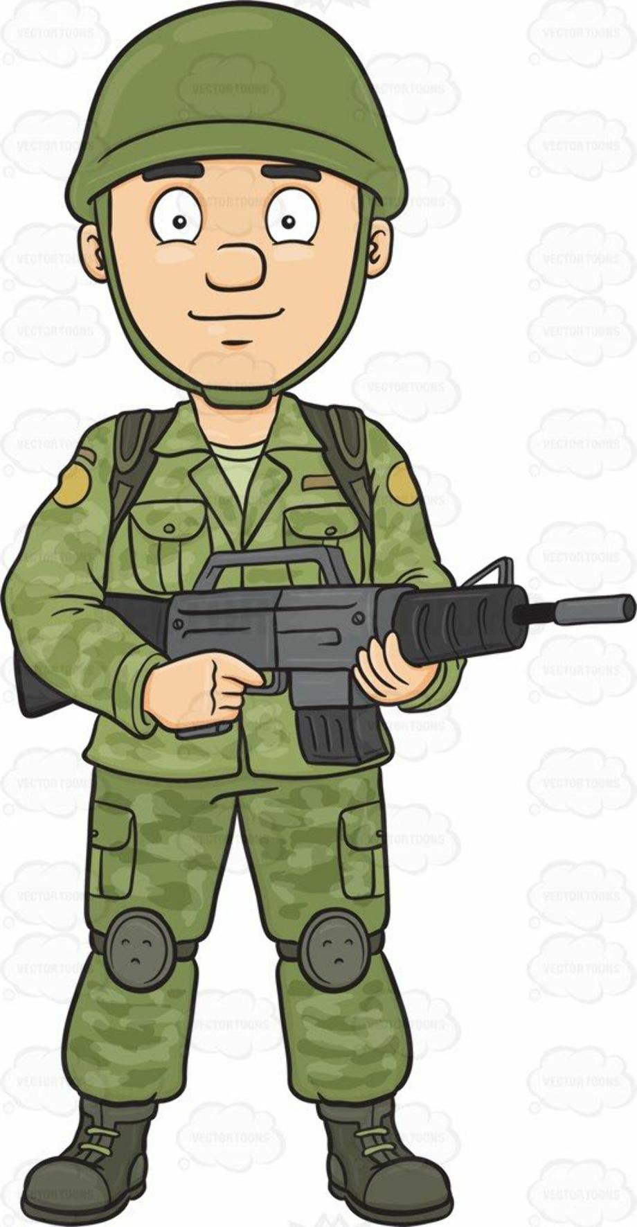 military clipart cartoon