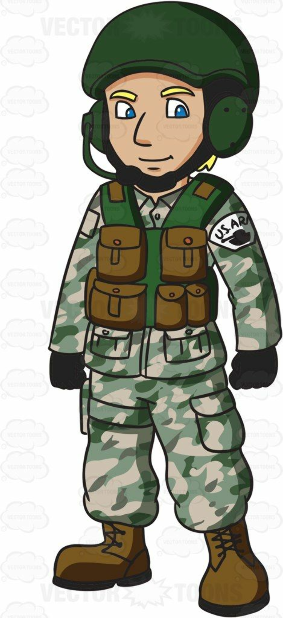 military clipart animated