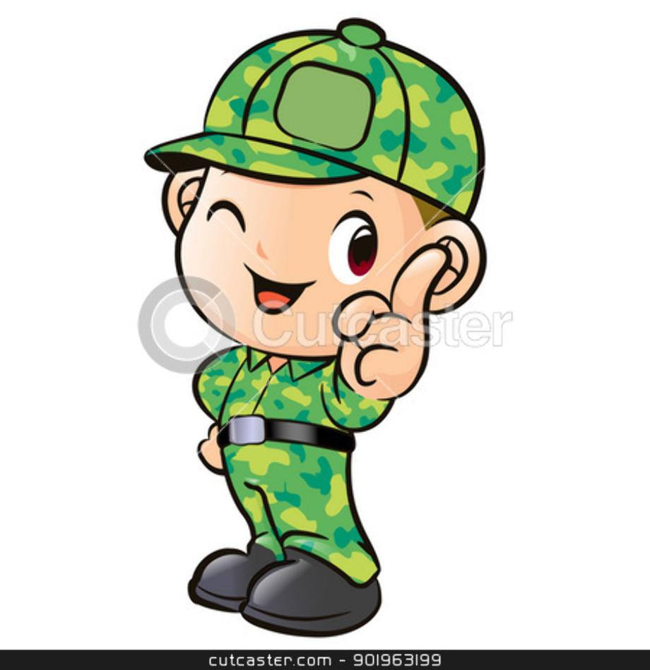 military clipart cute