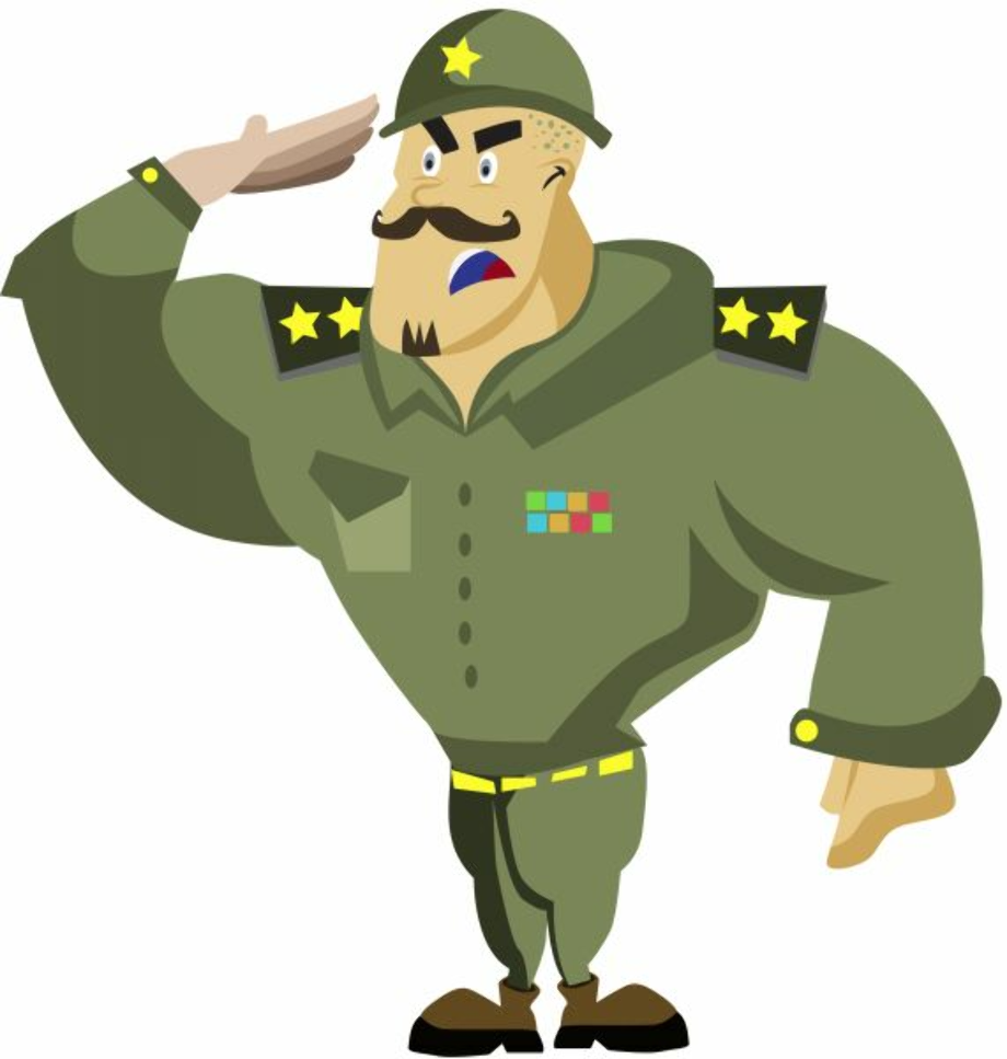 military clipart salute