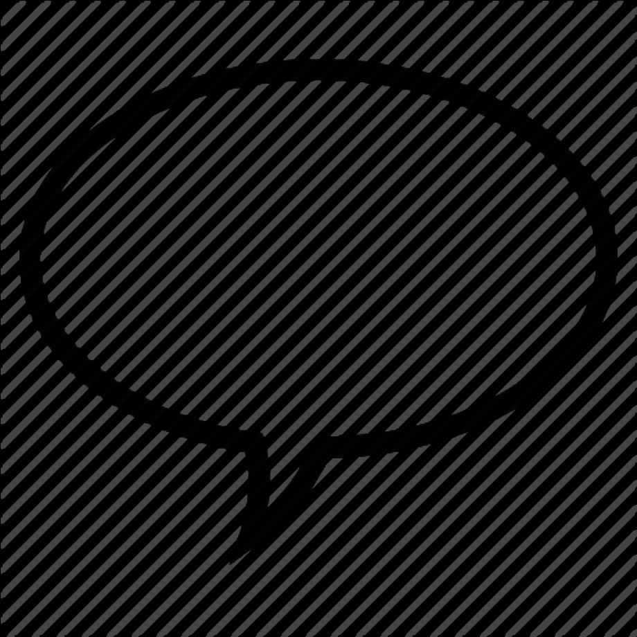 Download High Quality speech bubble transparent outline ...