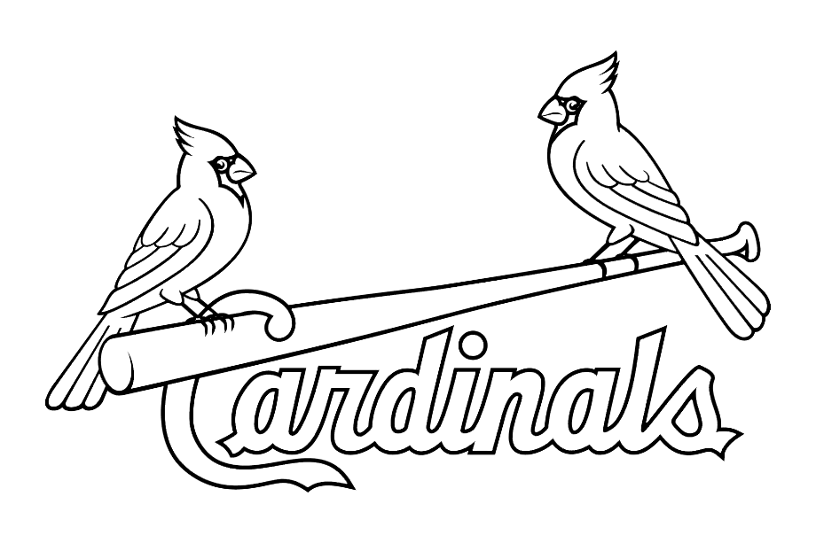 St louis cardinals logo white