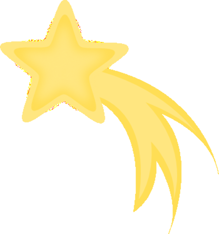 Star clipart shooting falling