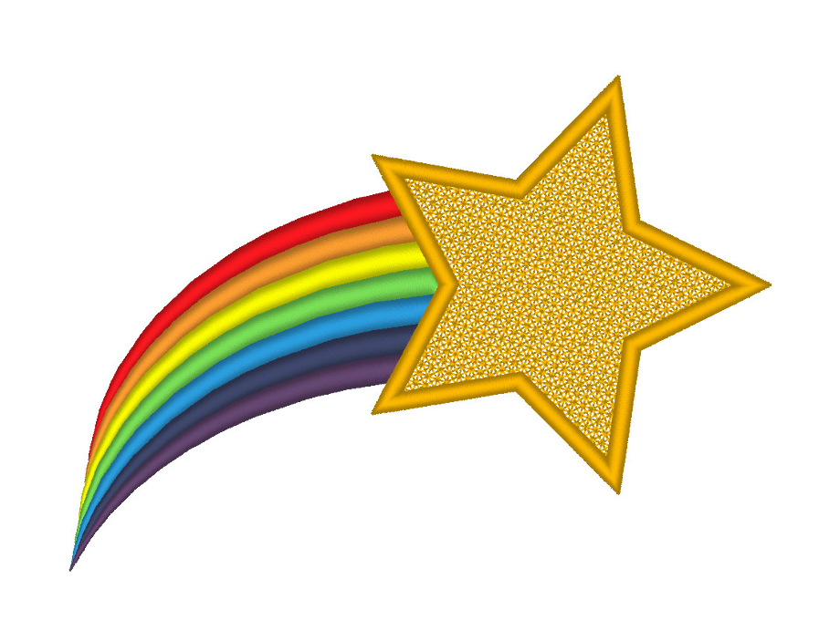 Colorful 10 Stars Clipart