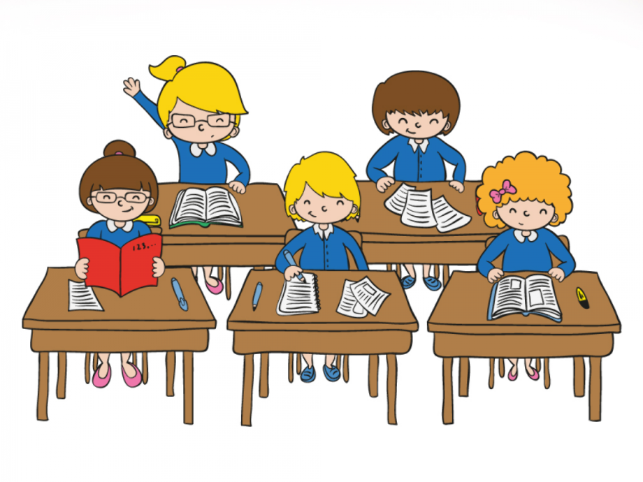 Student clipart classroom child