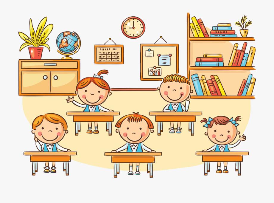 Student clipart classroom cartoon