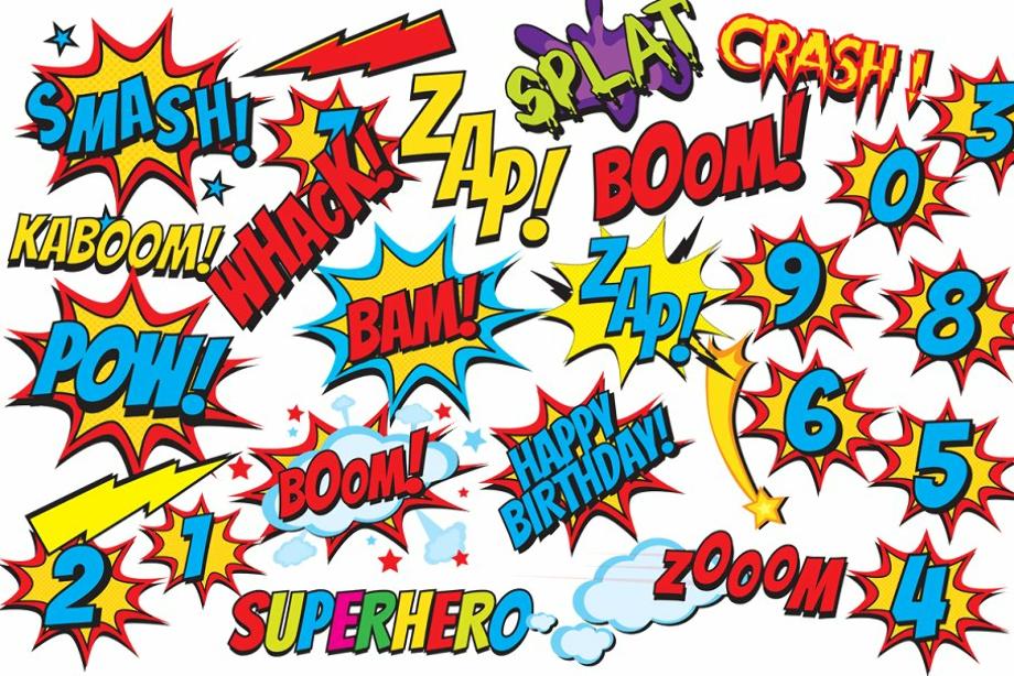 superhero clipart comic book