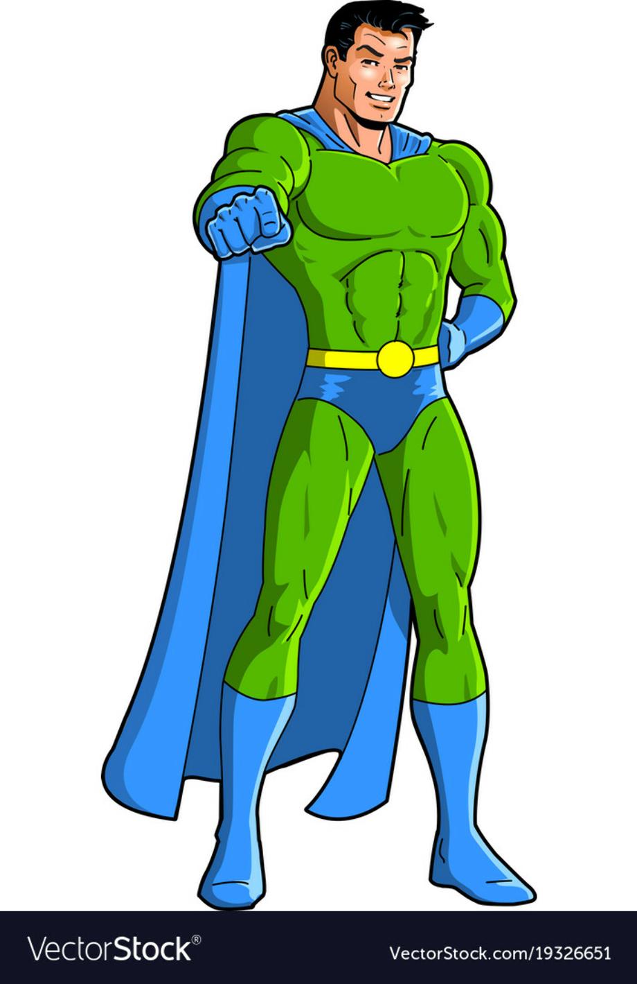 superhero clipart male