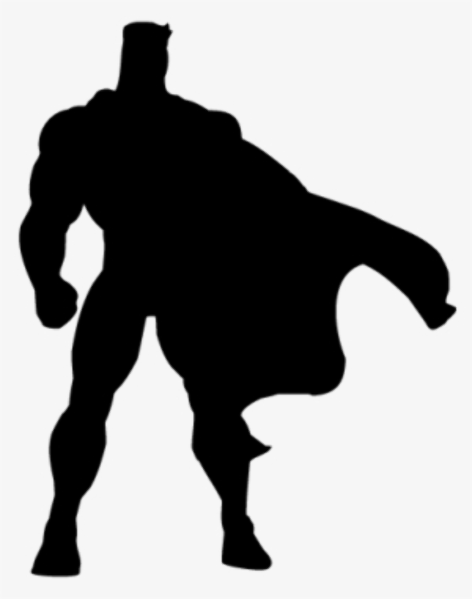 superhero clipart silhouette