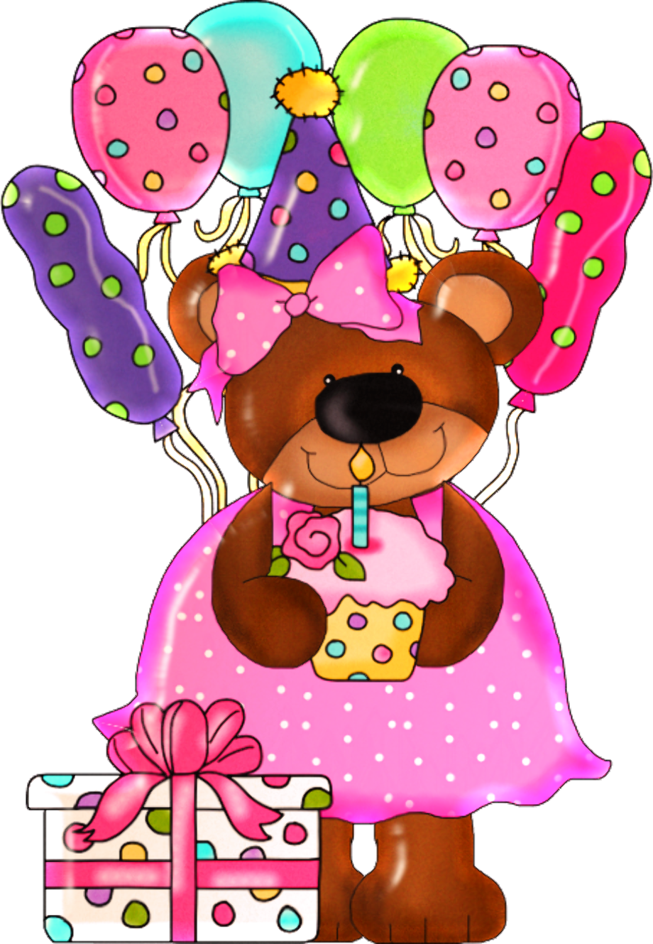 Teddy bear clipart happy birthday