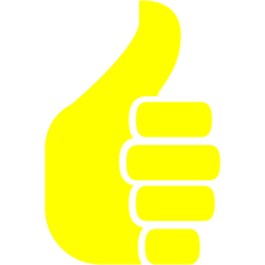 Download High Quality thumbs up transparent yellow ...
