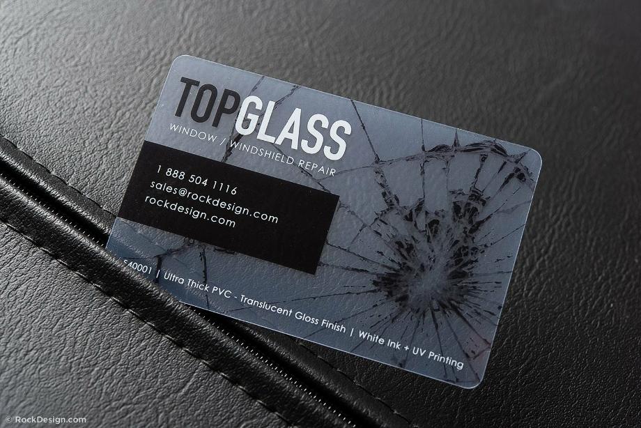 Transparent business cards modern