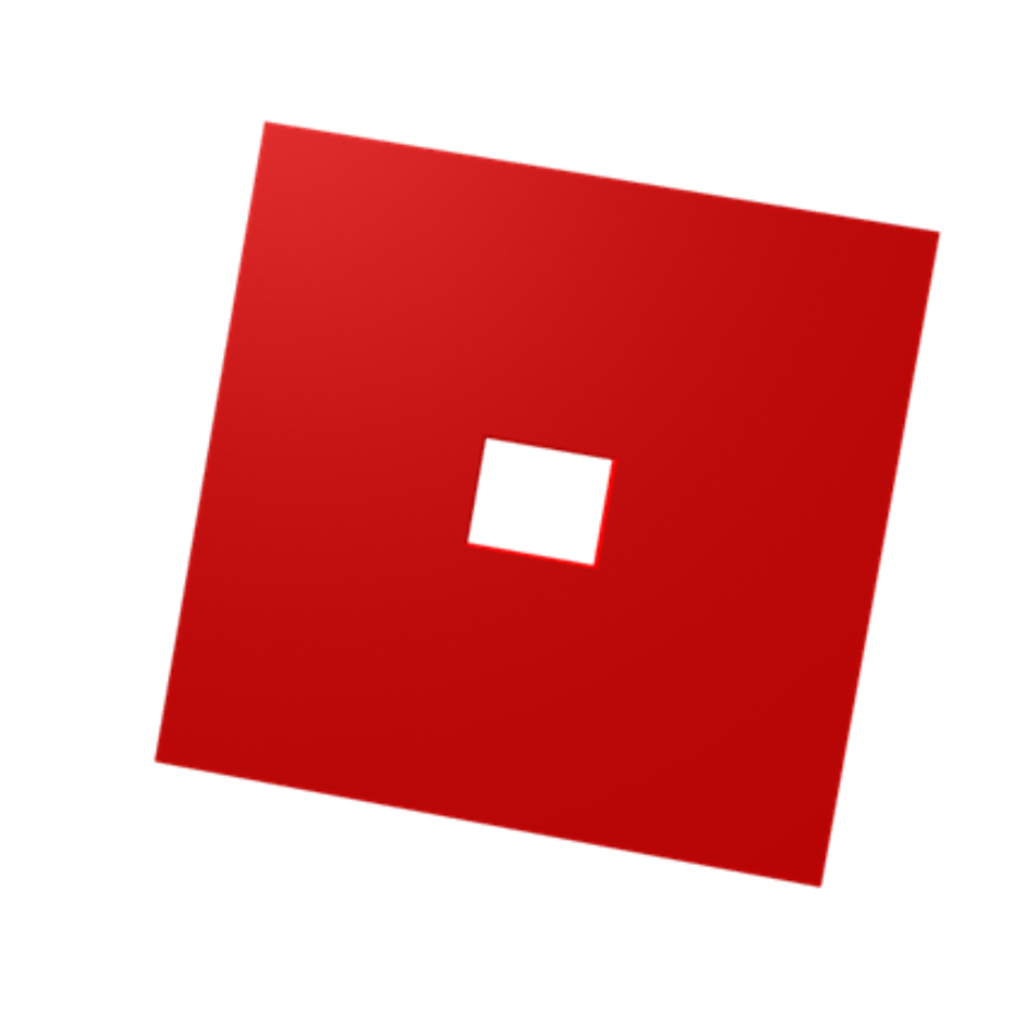 Roblox logo transparent red