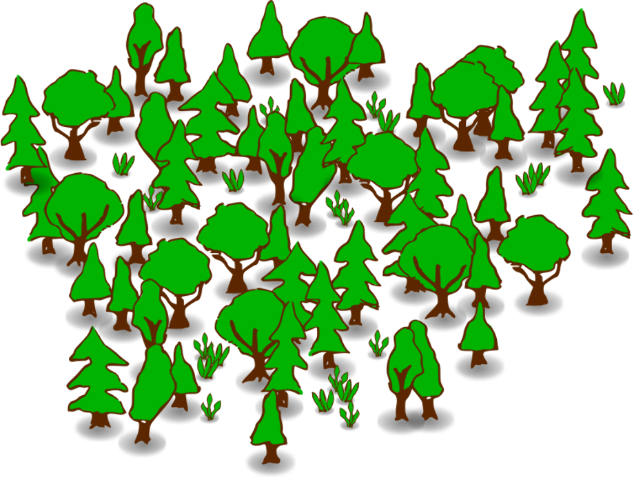 Tree clipart forest free
