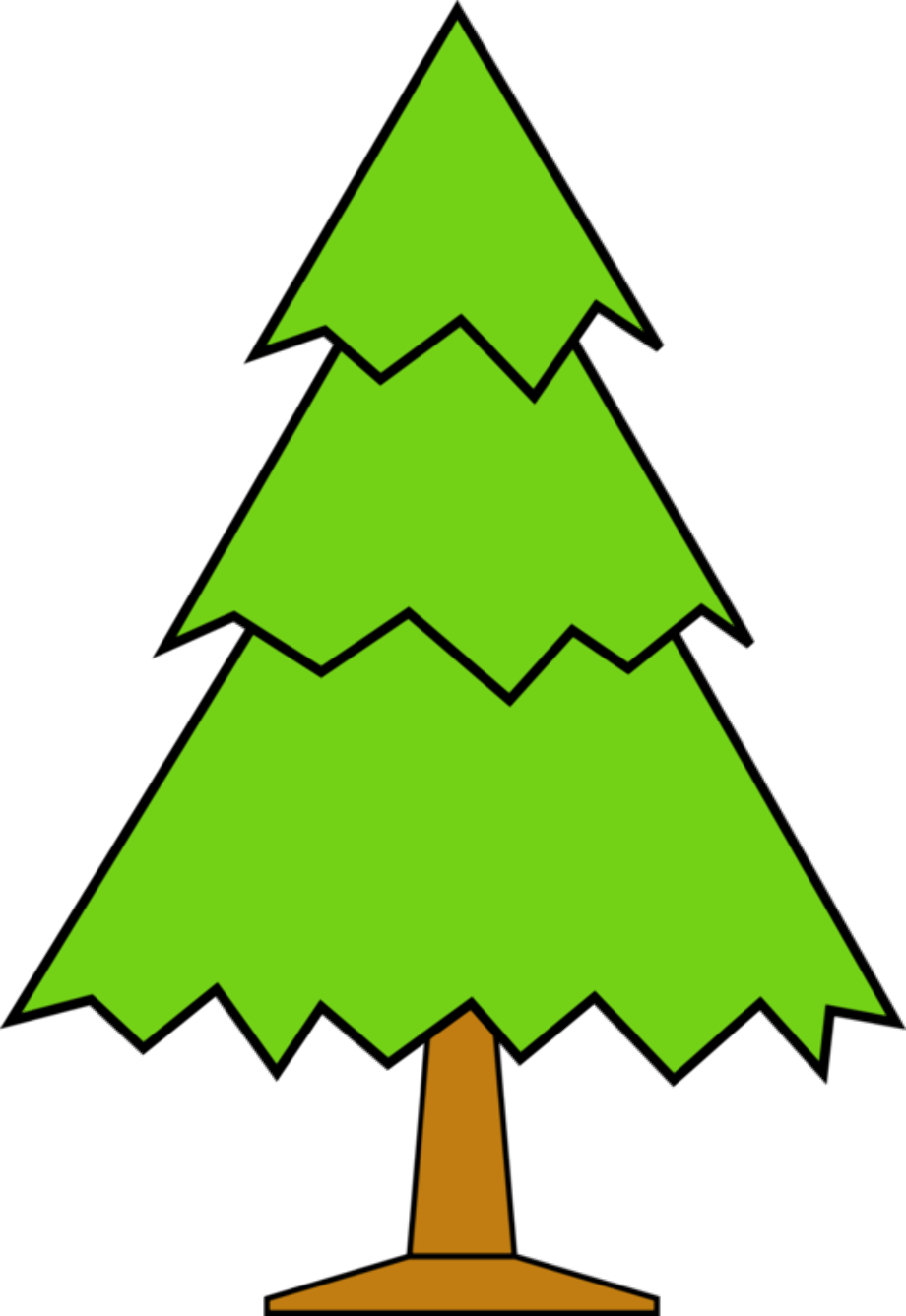 Tree clipart forest christmas