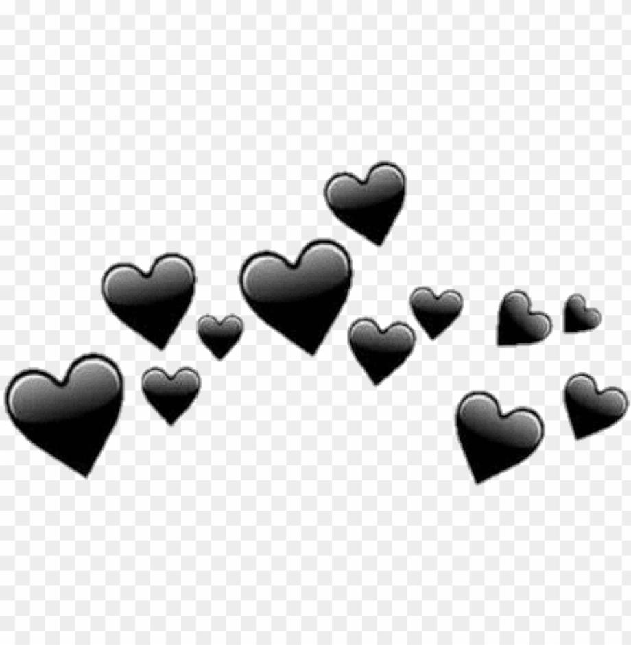 Tumblr transparent black hearts