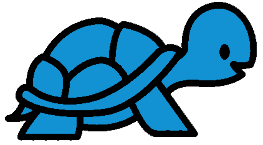 Turtle logo blue