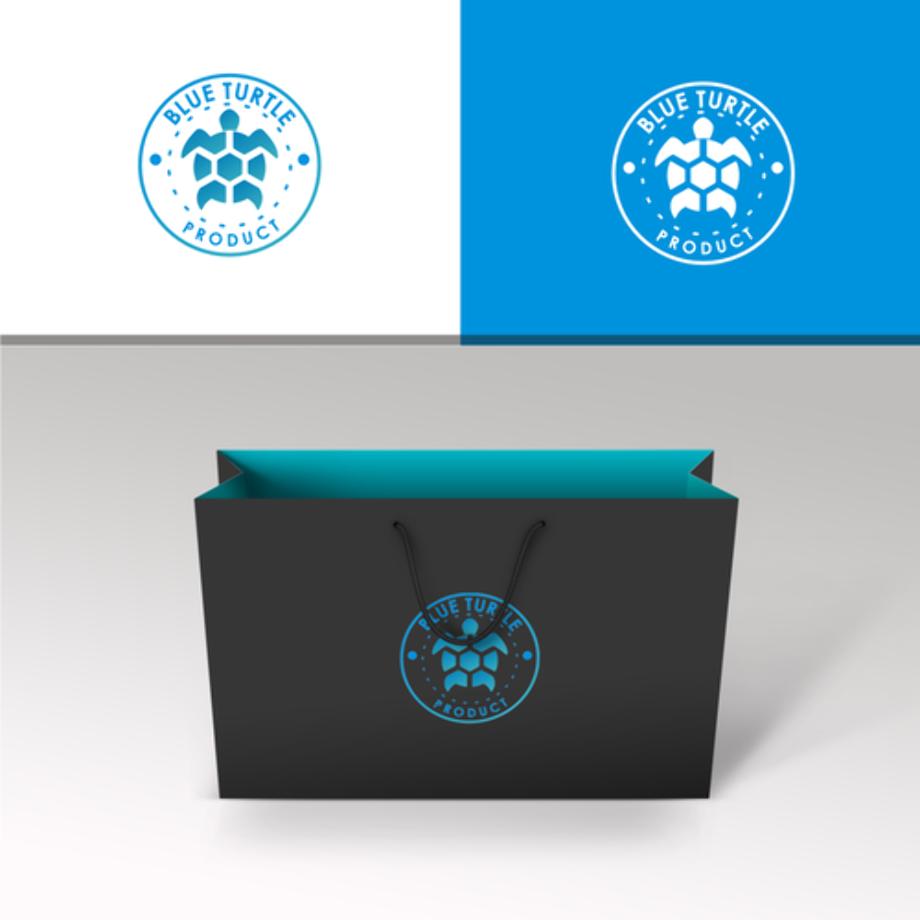 Turtle logo blue create
